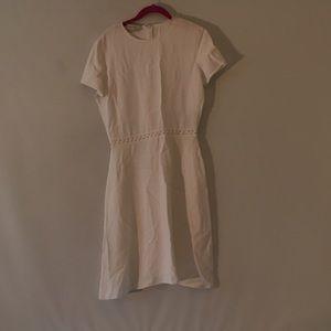 Stella McCartney White Ric Rack Fit Flare Dress 44